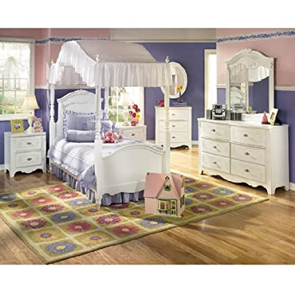 Amazon Com Exquisite Youth Canopy Bedroom Set By Ashley Furniture