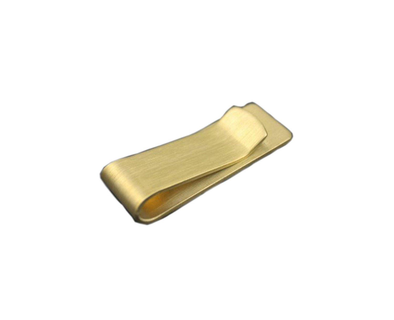 Clip semplice e pulizia Metal Money per gli uomini d'oro di rame della clip dei soldi per le donne Brass Money wallet morsetto Bill Fold Notecase AUTULET