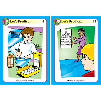 Super Duper Publications | Let's Predict Fun Deck | Future Tense and Reasoning Skills Flash Cards | Educational Learning Materials for Children: Toys & Games
