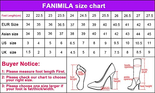 Shoes Blue Women Mary Heels Jane FANIMILA Fashion 1WqnY6TTX