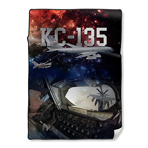 (NIWAHO Personalized Throw Blanket Printing USAF Air Force KC-135 Stratotanker Photo, 58X80 Inch)
