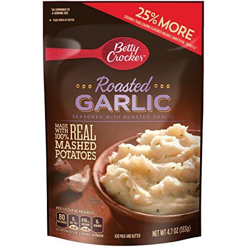 (2 Pack) Betty Crocker Savory Roasted Garlic Mashed Potatoes, 4.7 Oz.
