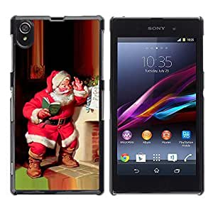 YOYO Slim PC / Aluminium Case Cover Armor Shell Portection //Christmas Holiday Santa Claus Holiday 1048 //Sony L39