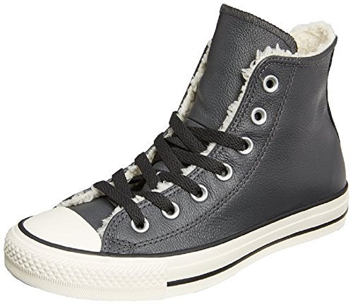 Converse Womens Chuck Taylor All Star Hi Leather/Shearling Storm Wind/Natural M7.5/W9.5
