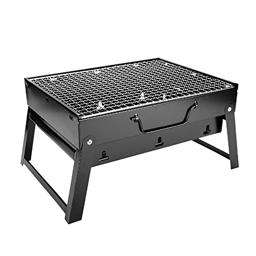Woby BBQ Charcoal Grill Small Foldable Portable Lightweight Tabletop Barbecue Grill Cooker for Outdoor Cooking Picnics Camping Hiking at Home by Woby