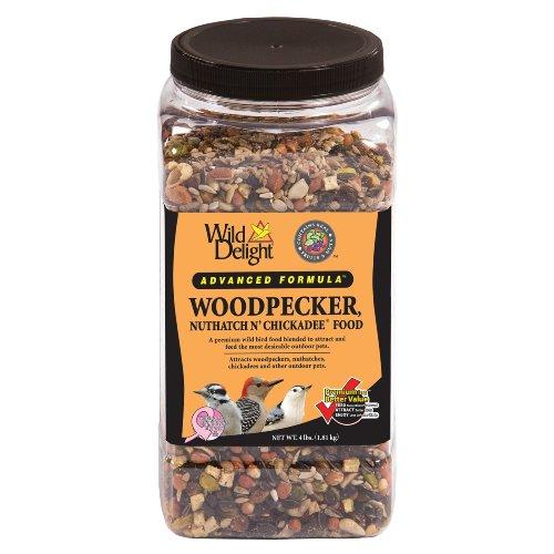 Wild Delight 364040 Advanced Formula Woodpecker Nuthatch N Chickadee Food, 4 Pounds (Food Chickadee 4lb)