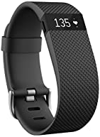 Fitbit Charge HR Wireless Activity Wristband (Black, Large (6.2 - 7.6 in))