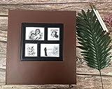 RECUTMS Photo Album 600 Pockets,Sewn Bonded Black