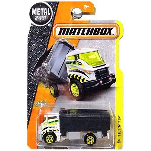 - Matchbox 2016 MBX Construction Tilt 'N' Tip Garbage Truck 50/125, White