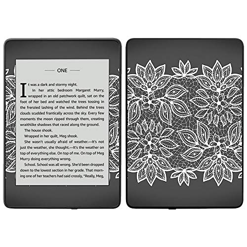 MightySkins Skin for Amazon Kindle Paperwhite 2018 (Waterproof Model) - Floral Lace | Protective, Durable, and Unique Vinyl Decal wrap Cover | Easy to Apply, Remove| Made in The USA