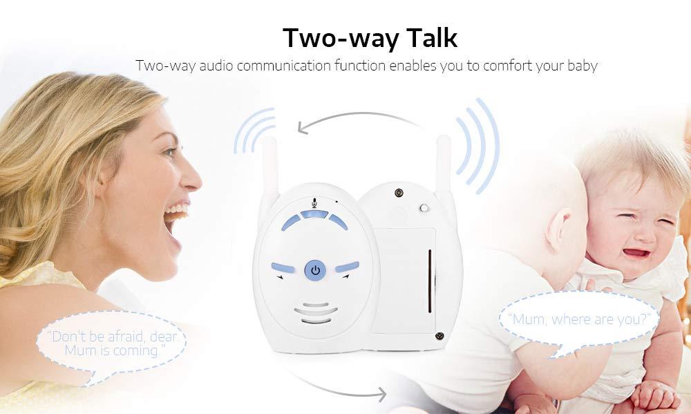 Monitor-de-audio-digital-para-bebes-de-2-4-GHz-inalambrico-recargable-con-s miniatura 9