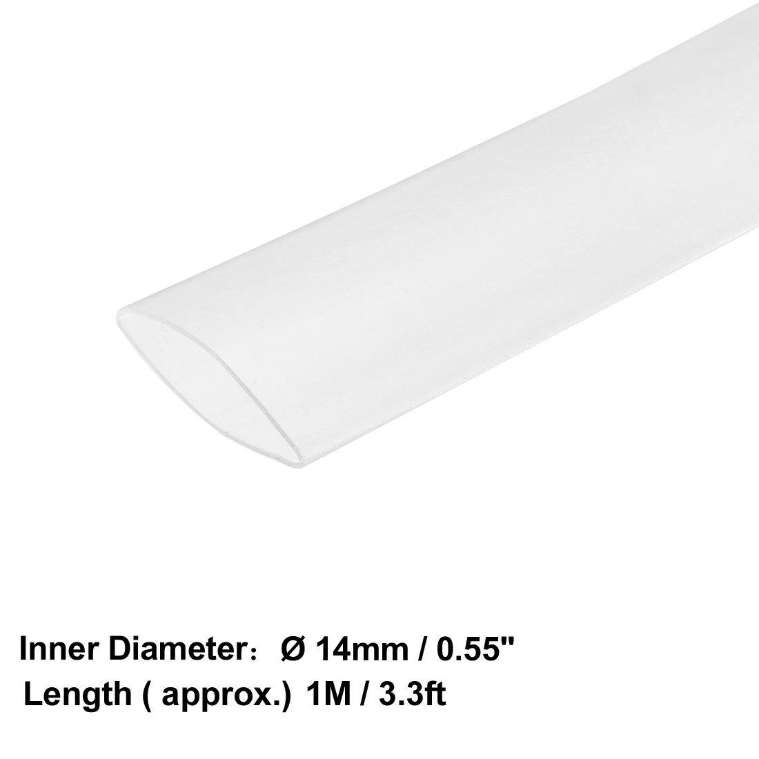 Tube Thermor/étractables 2 1 Tubes Isolation /électrique Vert 18mm Dia Long 1m