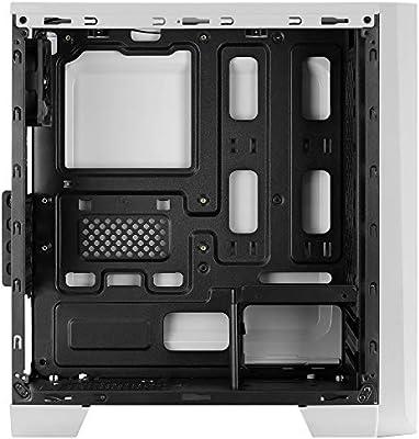 Aerocool Cylon Mini, caja PC Micro ATX blanca, RGB 13, ventana ...
