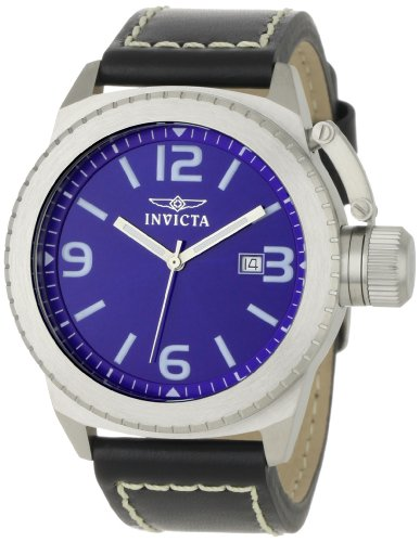 Invicta Men's 1109 Corduba Collection Blue/Black Leather Watch
