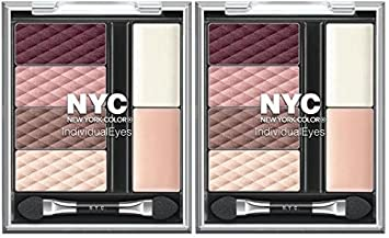NYC New York Color Individual Eyes Shadow Compact 945 MIDTOWN MAUVE PCK OF 2