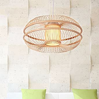 JhyQzyzqj Pendant Lights Chandeliers Ceiling Lights The restaurant room lighting idyllic modern minimalist creative bamboo lanterns bamboo bamboo lamps 420230MM Apple