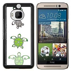 Caucho caso de Shell duro de la cubierta de accesorios de protección BY RAYDREAMMM - HTC One M9Plus M9+ M9 Plus - Patrón de cal Arte blanco lindo animal