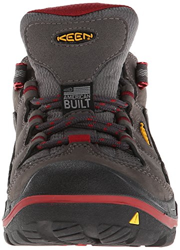 Keen Durand WP - Zapatos de Low Rise Senderismo Mujer Gris - Magnet/ Red Dahlia