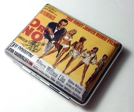 James Bond 007 Sean Connery Dr No Cigarette Case Wallet Card Holder ()