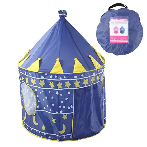 Waliga Play Tent for Kids Castle Playhouse Popup Tent Gift to Crawl for Boys and Girls Promotes Early Learning, Social Bonding, Imagination Building and Roleplay Easy -