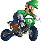 7 Inch Luigi Bike Cycle Motorcycle Super Mario Kart Wii Bros Brothers Removable Wall Decal Sticker Art Nintendo 64 SNES Home Kids Room Decor Decoration - 6 1/2 by 7 inches