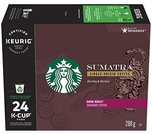 Starbucks Sumatra Coffee, 288g/ 24ct K-Cup Packs, (Imported from Canada)