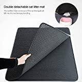 Cat Litter Mat, AUOKER Cat Litter Trapper, Honeycomb Double-Layer Design Easy to Clean