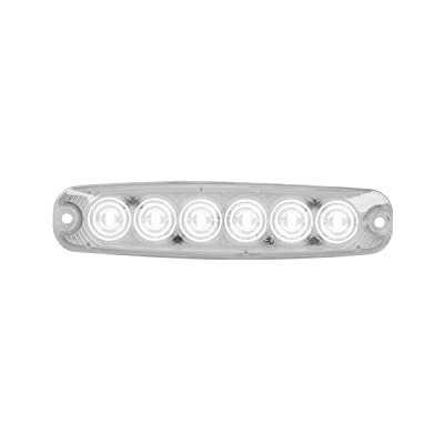 GG Grand General 75864 White/Clear 5-1/8 Inch Ultra Thin 6 Led Light, High/Low, 3 Wires: Automotive