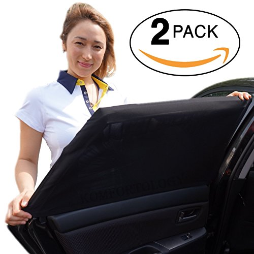 Car Sun Shades (2 Pack, Fits Most Cars and SUV) | Car Window Shade for Baby, Passengers and Pets Without Clings or...
