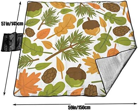 Tyyyy Grande Coperta da Picnic all'aperto Impermeabile Scoiattolo pinoli Dadi Sabbia Sabbia stuoia stuoia per Campeggio Escursionismo Erba Viaggio