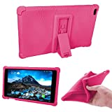 Lenovo TAB 4 8 Case - HminSen (2017 Ultra Slim Soft Silicon Back Stand Cover for Lenovo TAB 4 8 TB-8504F TB-8504N Tablet,Light Blue (Rose)