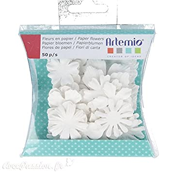 Artemio Florenz Blumen, Papier, weiß, 10 x 1 x 12 cm: Amazon.de ...