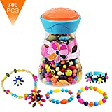 (US) BFOEL Pop Snap Beads Set Creative DIY Jewelry Making Kit for Necklace,Ring,and Bracelet for Ages 3 and Up(300 PCS)