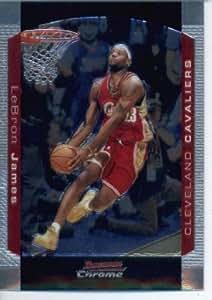 2004 05 Bowman Chrome Basketball Card 23 Lebron James