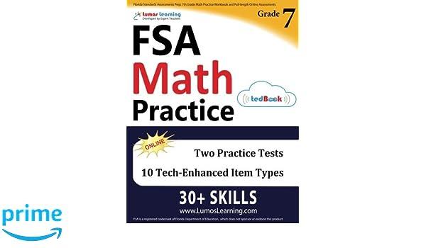 Florida Standards Assessments Prep: 7th Grade Math Practice ...