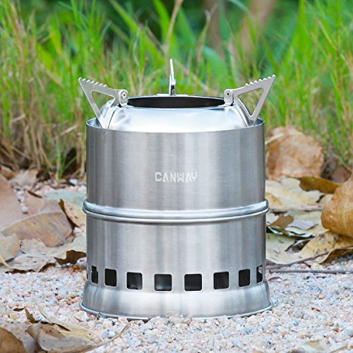 Canway Wood Burning Stove Stainless Steel Portable Camping