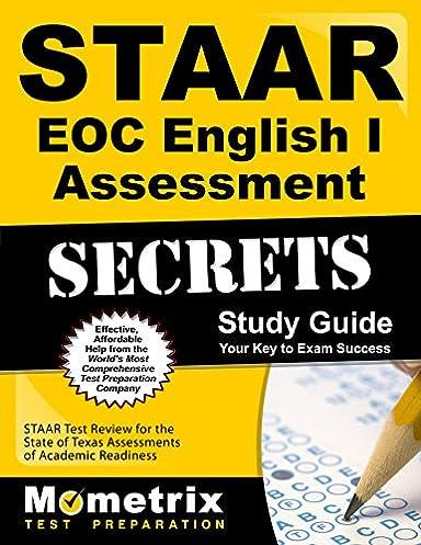 staar eoc english i assessment secrets study guide staar test rh amazon com STAAR Released Test STAAR Bulletin Boards