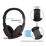 Leshp USB Wired Stereo Micphone Gaming Headphone for Sony PS3 PS4 PC