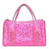 Donalworld Women Summer Clear Beach Candy Waterproof Handbag Pillow Bag Lpink