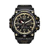 Fashion Men Watch,Fxbar Brand Men's Sport Watch Dual Display Analog Digital LED Electronic Wrist Watches(D)