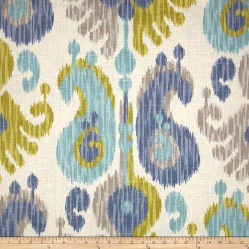 Braemore Fabrics Braemore Journey Ikat Linen Blend Aquamarine