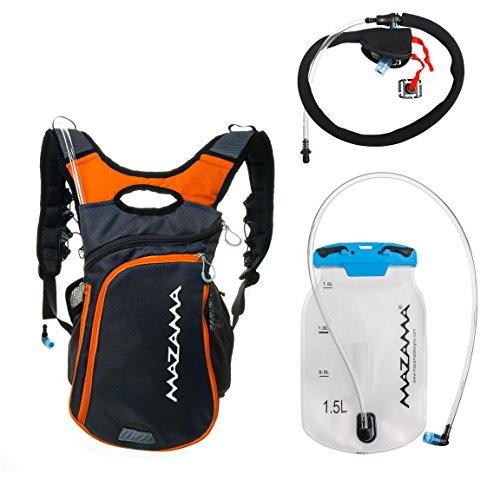 Hiking Backpack with Hydration Bladder Kit - BPA Free Hydration Reservoir - Koosah Hiking Pack by Mazama (Grey) by Mazama