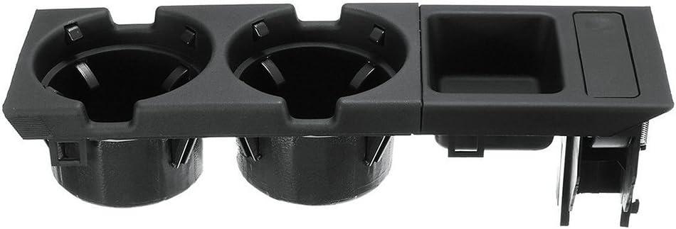 negro Portavasos para E46 Coche Multifunci/ón Interior Centro Consola Portavasos Soporte para vasos bebidas Caja de reemplazo de la bandeja de monedas OE 51168217953 51168217957