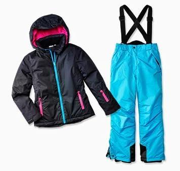 POCOPIANO Mädchen 2 tlg Kinder Skianzug Schneeanzug Skijacke Schneehose