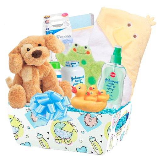 Bellisima ''Cuddly Baby'' 20 Pc Deluxe Baby Bath Gift Basket by Bellisima