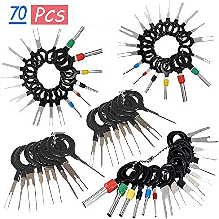 70Pcs Set Pin Ejector Wire Kit Extractor Auto Terminal Removal Connector BEST
