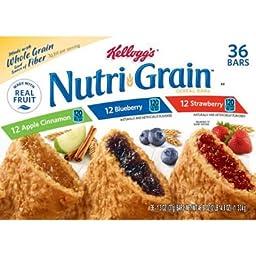 Kellogg\'s Nutri Grain Variety Pack (1.3 oz., 36 ct.) (pack of 2)
