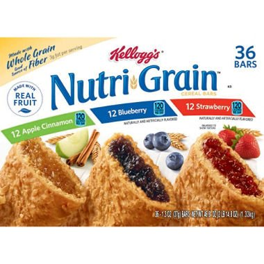 Kellogg's Nutri Grain Variety Pack (1.3 oz., 36 ct.) (pack of 6) by Kellogg's
