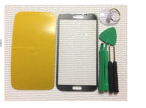 Price comparison product image Grey Original Replace Screen Outer Glass Lens for Samsung Galaxy Note 2 N7100