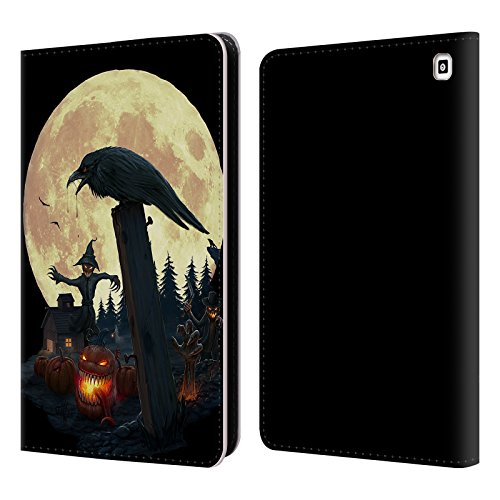 Official Christos Karapanos Halloween Theme Horror 2 Leather Book Wallet Case Cover for Amazon Fire HD 7